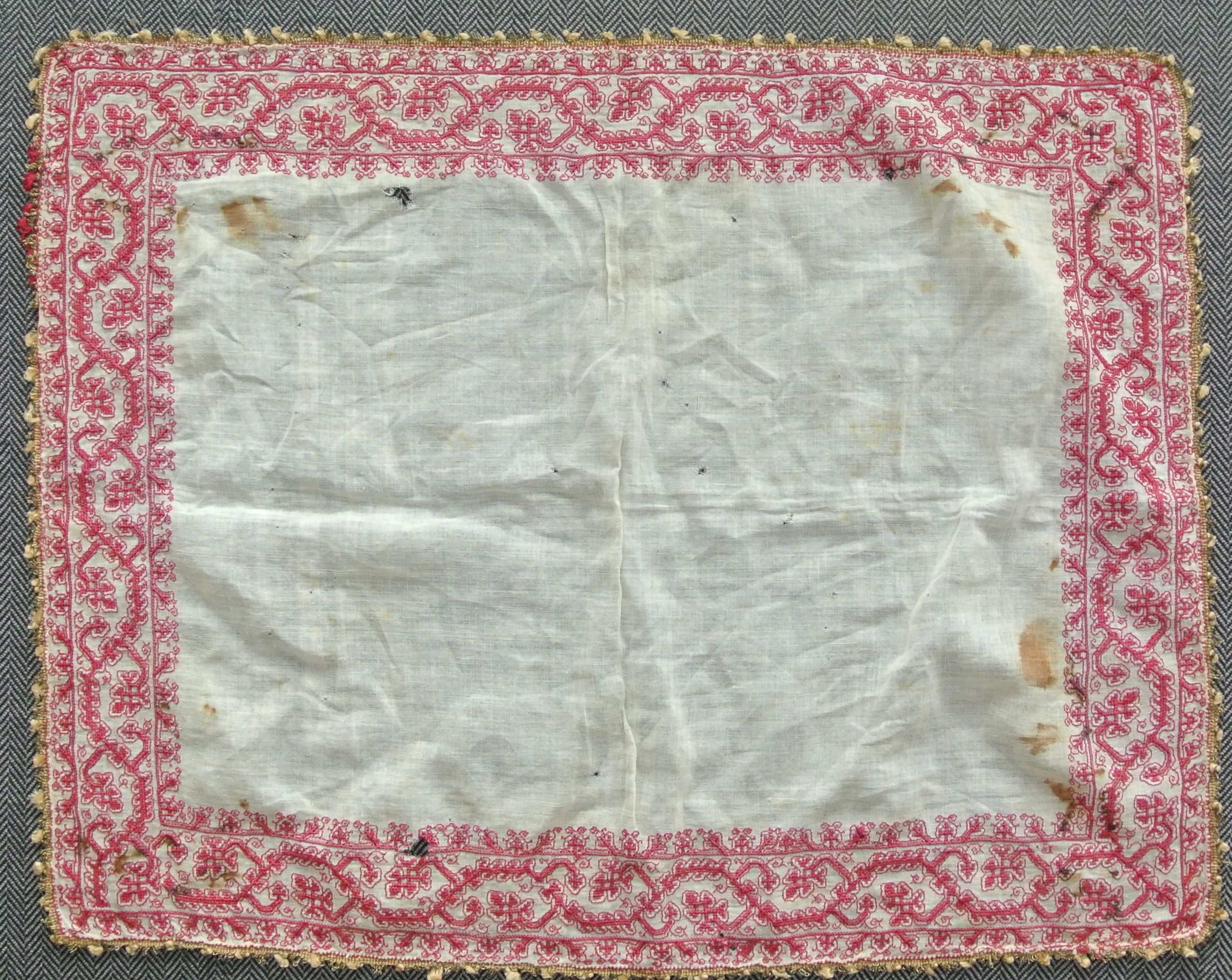 Fazzoletto Handkerchief Italy 16th Century Embroidery Textilien Handarbeit Kunst