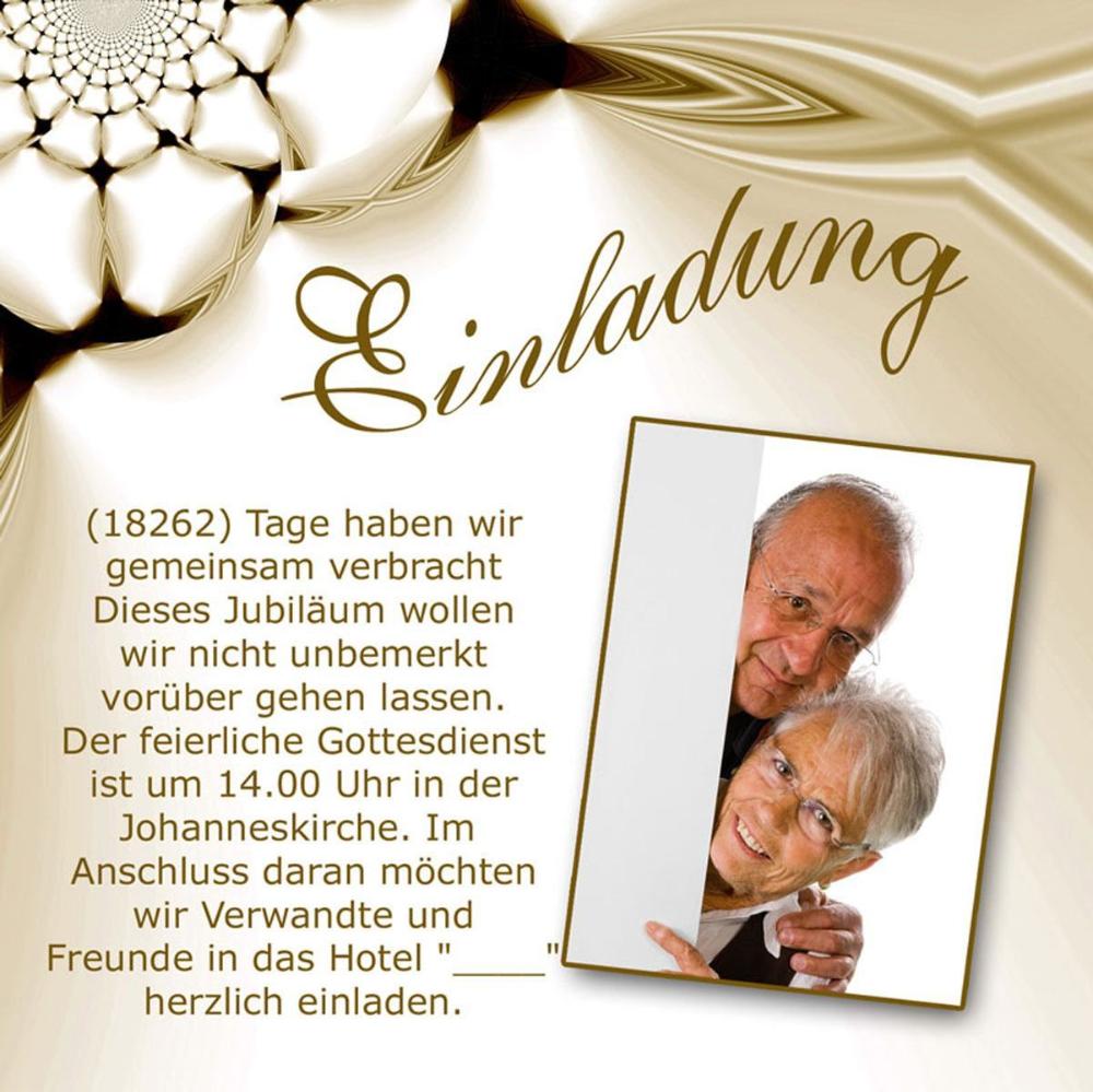 Goldene Hochzeit Einladungskarten Kostenlos Karten Goldhochzeit Einladungskarten Fur Die Goldene Hochzeit