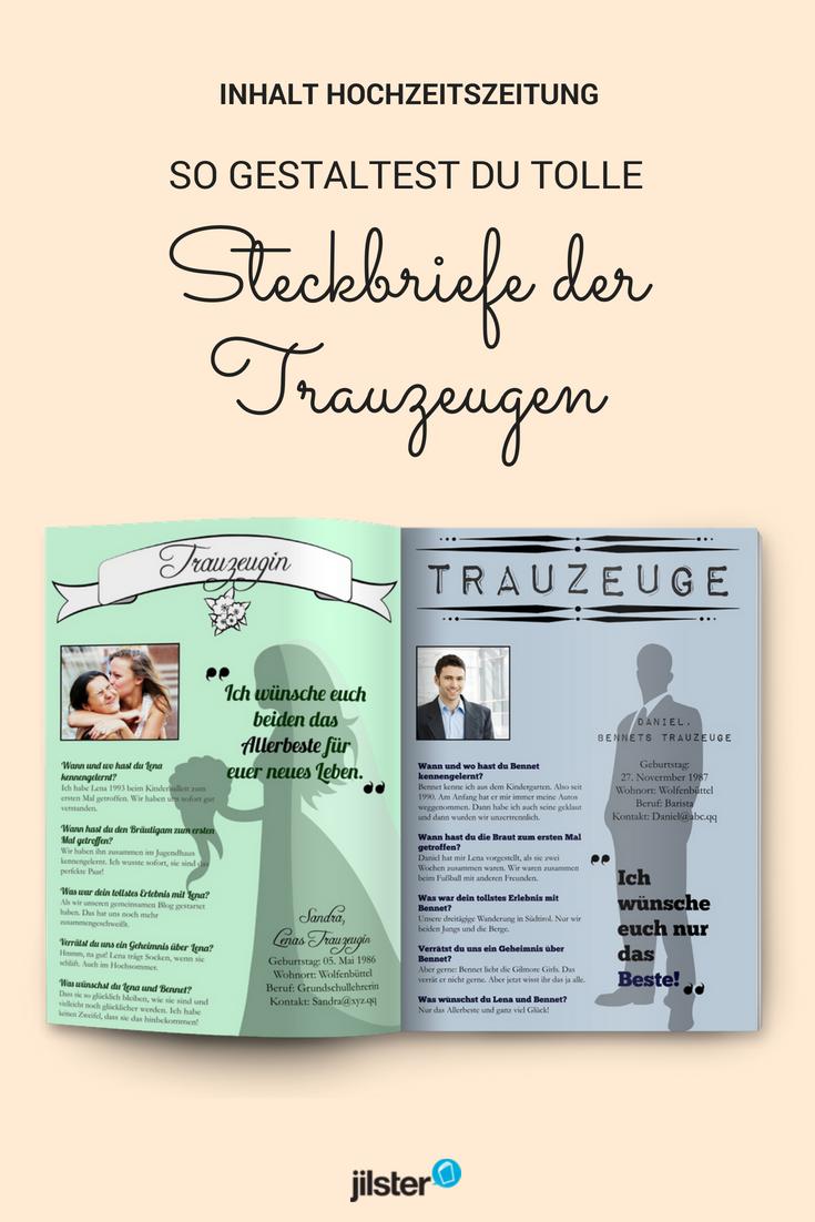 Steckbriefe Der Trauzeugen Fur Die Hochzeitszeitung Gestalten Hochzeitszeitung Gestalten Hochzeitszeitung Trauzeuge