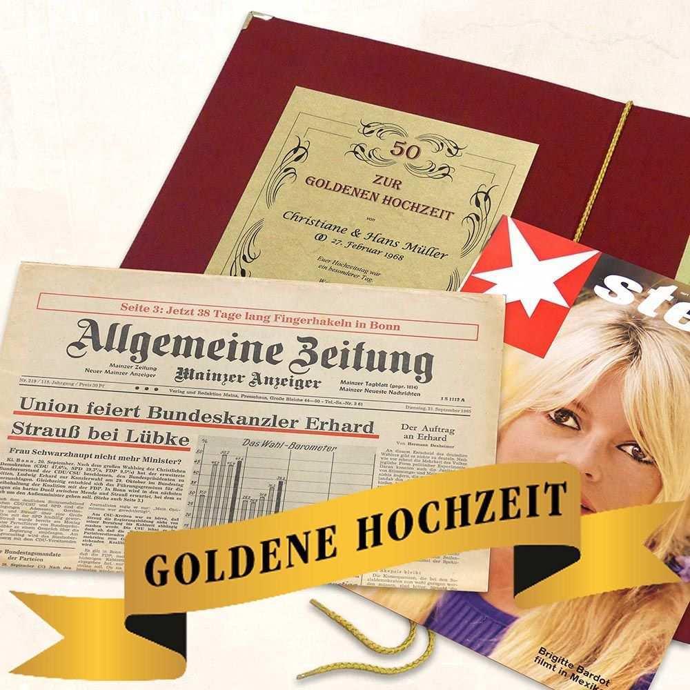 Eine Zeitreise Schenken Das Personliche Geschenk Zur Goldenen Hochzeit Eine Original Zeitung Vom T Geschenke Zur Goldenen Hochzeit Goldene Hochzeit Hochzeit