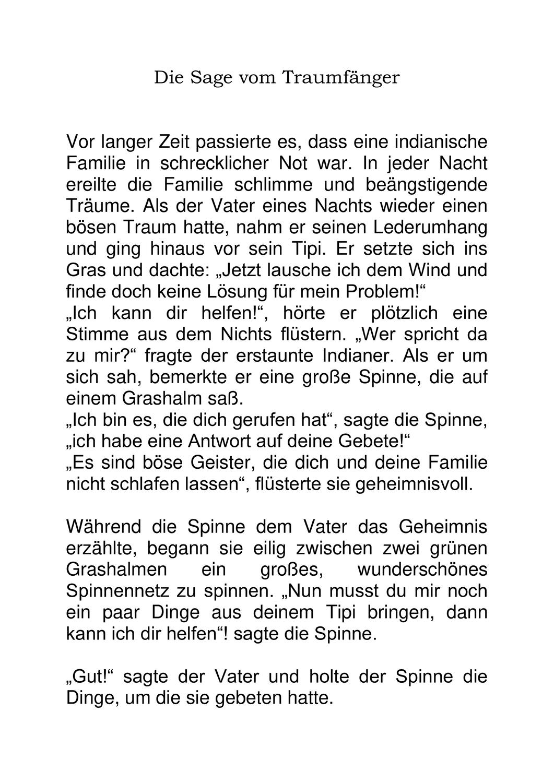 Traumfanger Geschichte Und Bastelanleitung Unterrichtsmaterial Im Fach Kunst Basteln Anleitung Bastelanleitungen Anleitungen