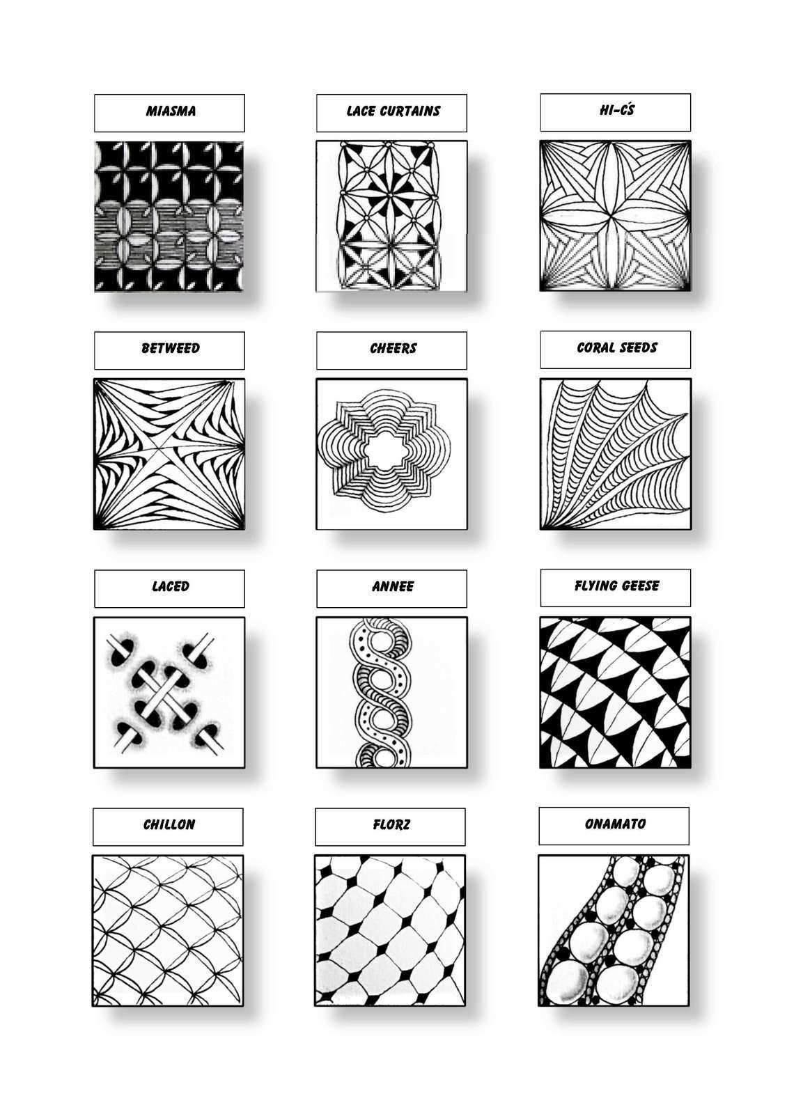 Cofono Czt Certified Zentangle Teacher Mustersammlung Zentangle Patterns Zentangle Zentangle Drawings