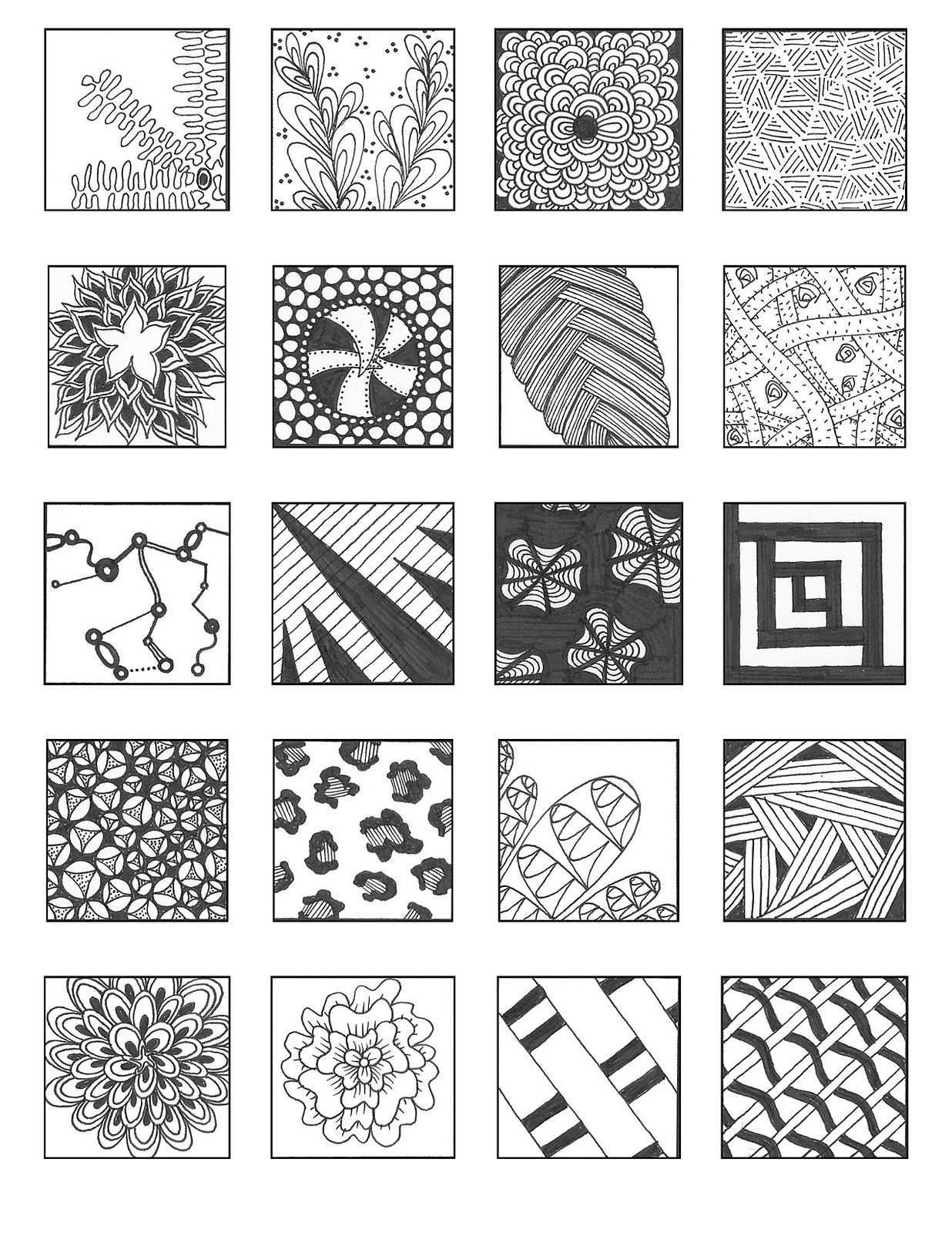 Noncat 9 Zentangle Patterns Tangle Patterns Doodle Patterns