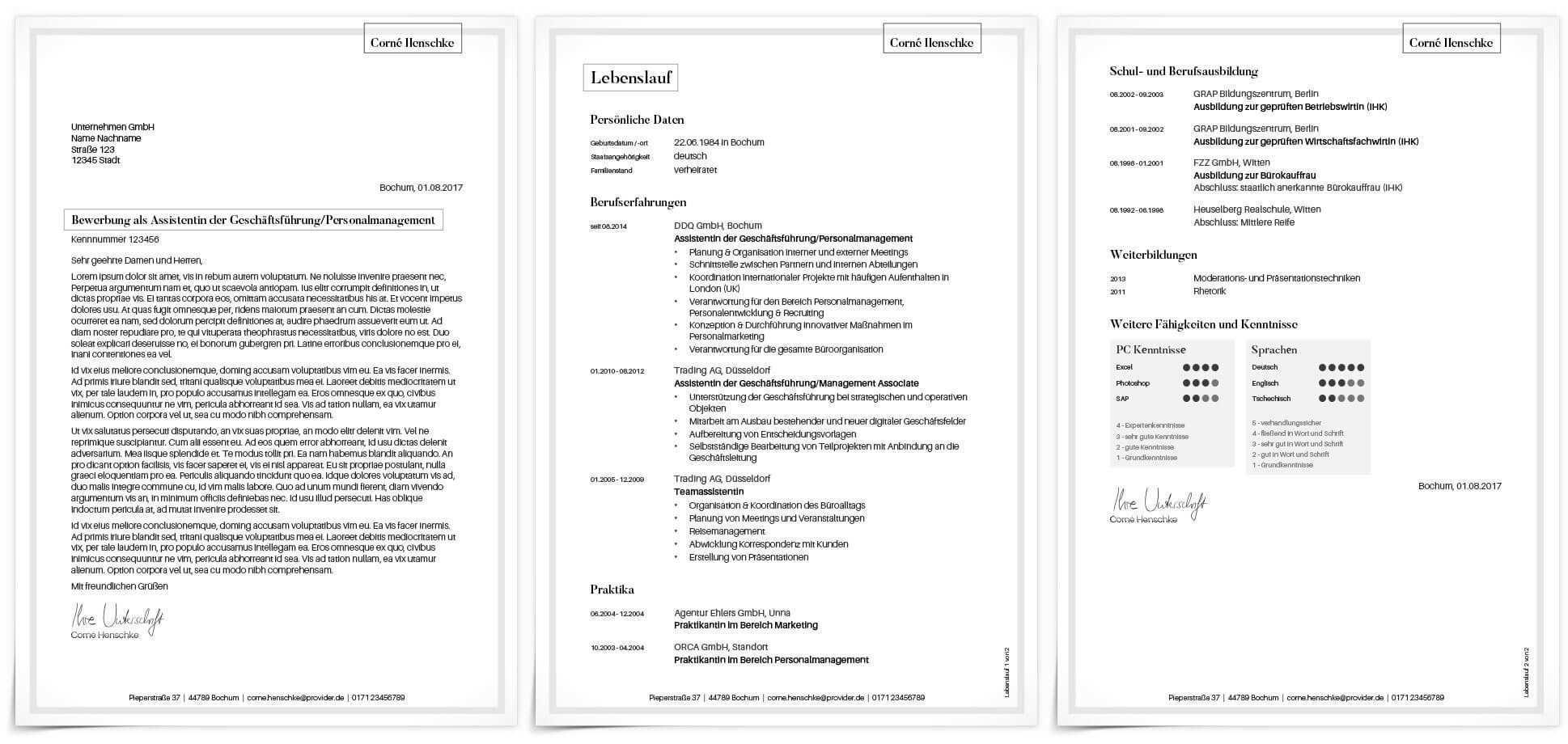 Unser Schlichtes Und Professionelles Bewerbungsdesign Stilvoll Anschreiben Und Ein Zweiseitiger Lebenslauf Bewerbungsdesign Bewerbung Design Anschreiben