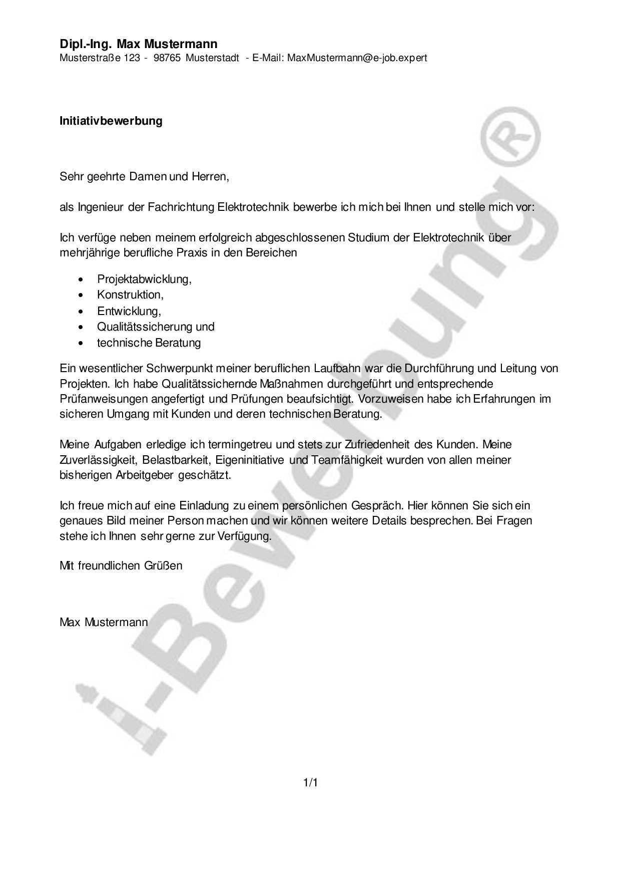 Initiativbewerbung Als Projektleiter Anschreiben Muster Bewerbung Schreiben Bewerbung Anschreiben