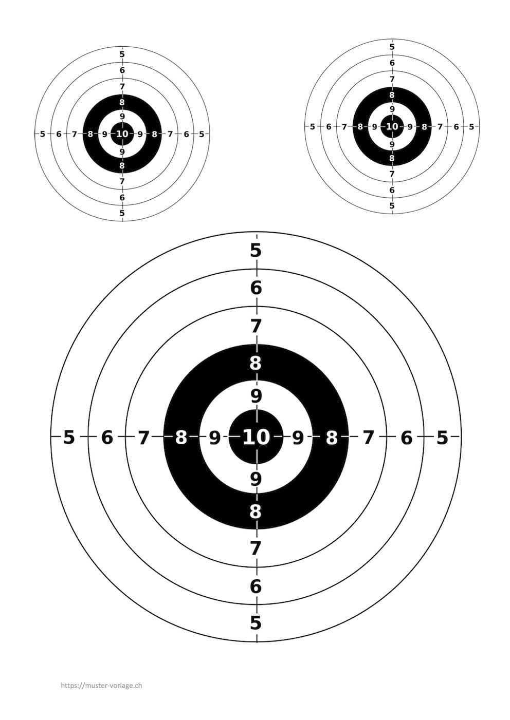 Zielscheibe Vorlage Zum Ausdrucken Muster Vorlage Ch