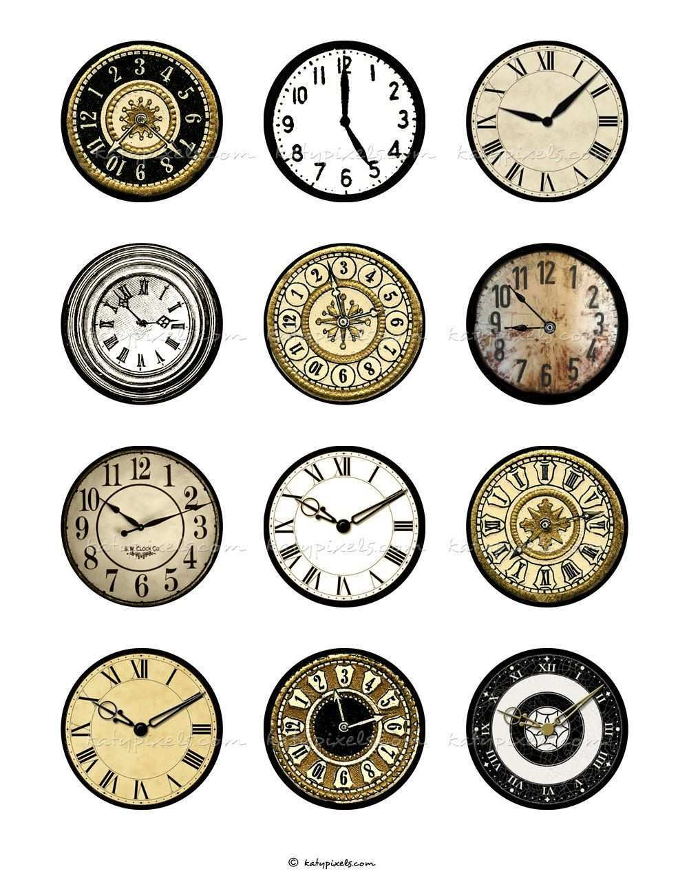 Unavailable Listing On Etsy Clock Face Miniature Printables Clock