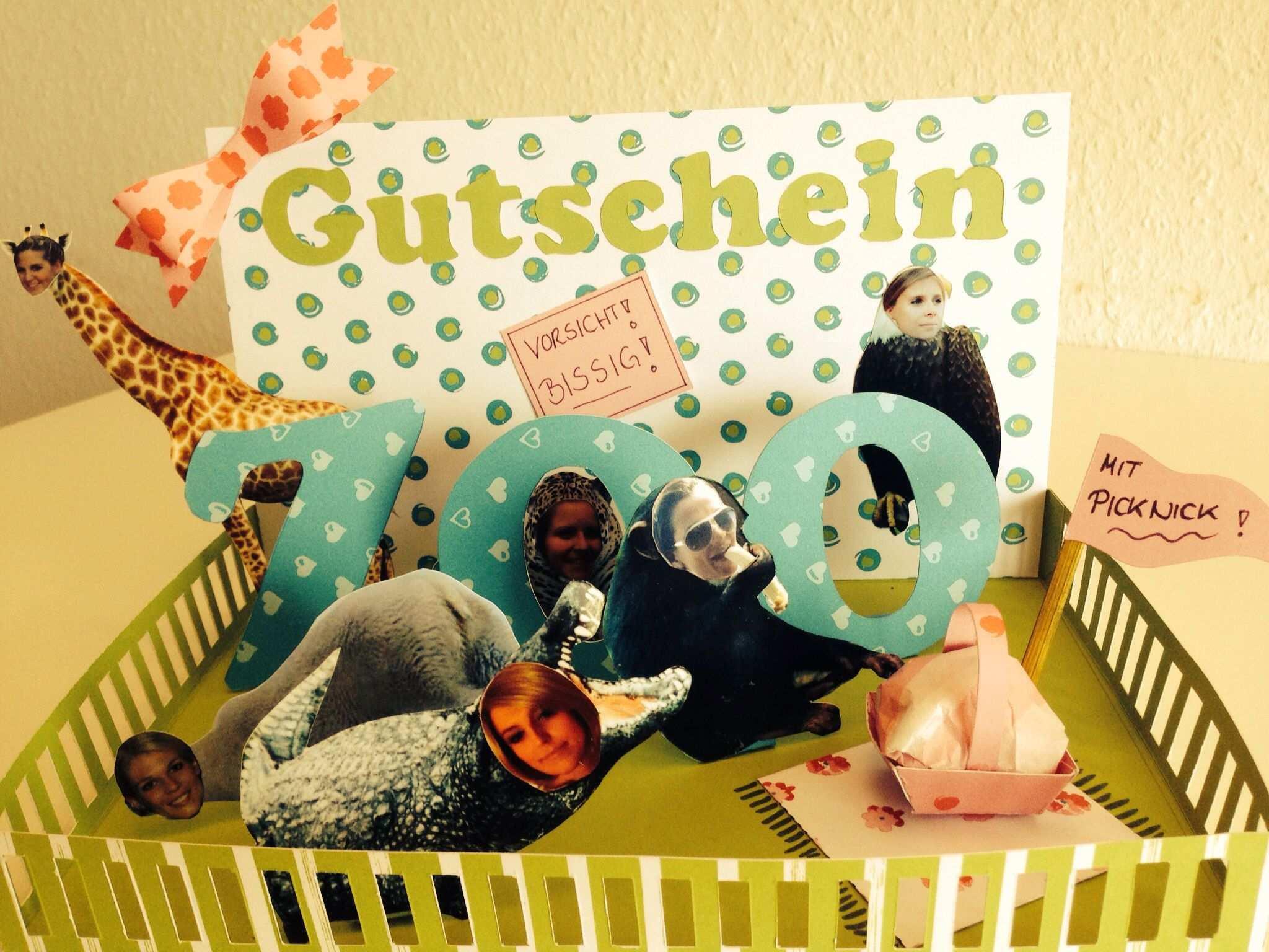 Zoo Gutschein In 3d Optik Gutschein Basteln Zoo Geschenke Basteln Gutschein Basteln