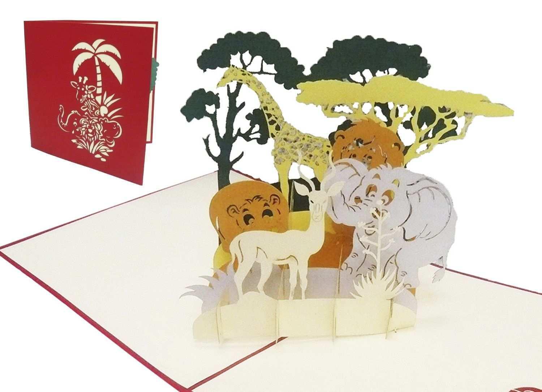Tiersafari Als Gluckwunsch Geburtstagskarte Zoo Gutschein Kindergeburtstag Verschenke Die Exklusive 3d G Geburtstagskarte Gutscheine Verschenken Grusskarte