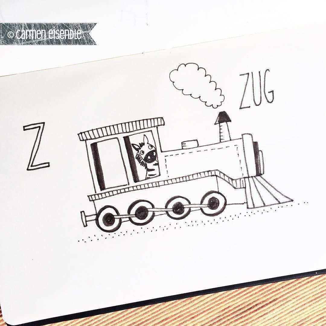 Z Wie Zug Letzter Buchstabe Im Fahrzeugabc Zug Train Abcposter Lokomotive Dampflok Instagram Posts Instagram Zug