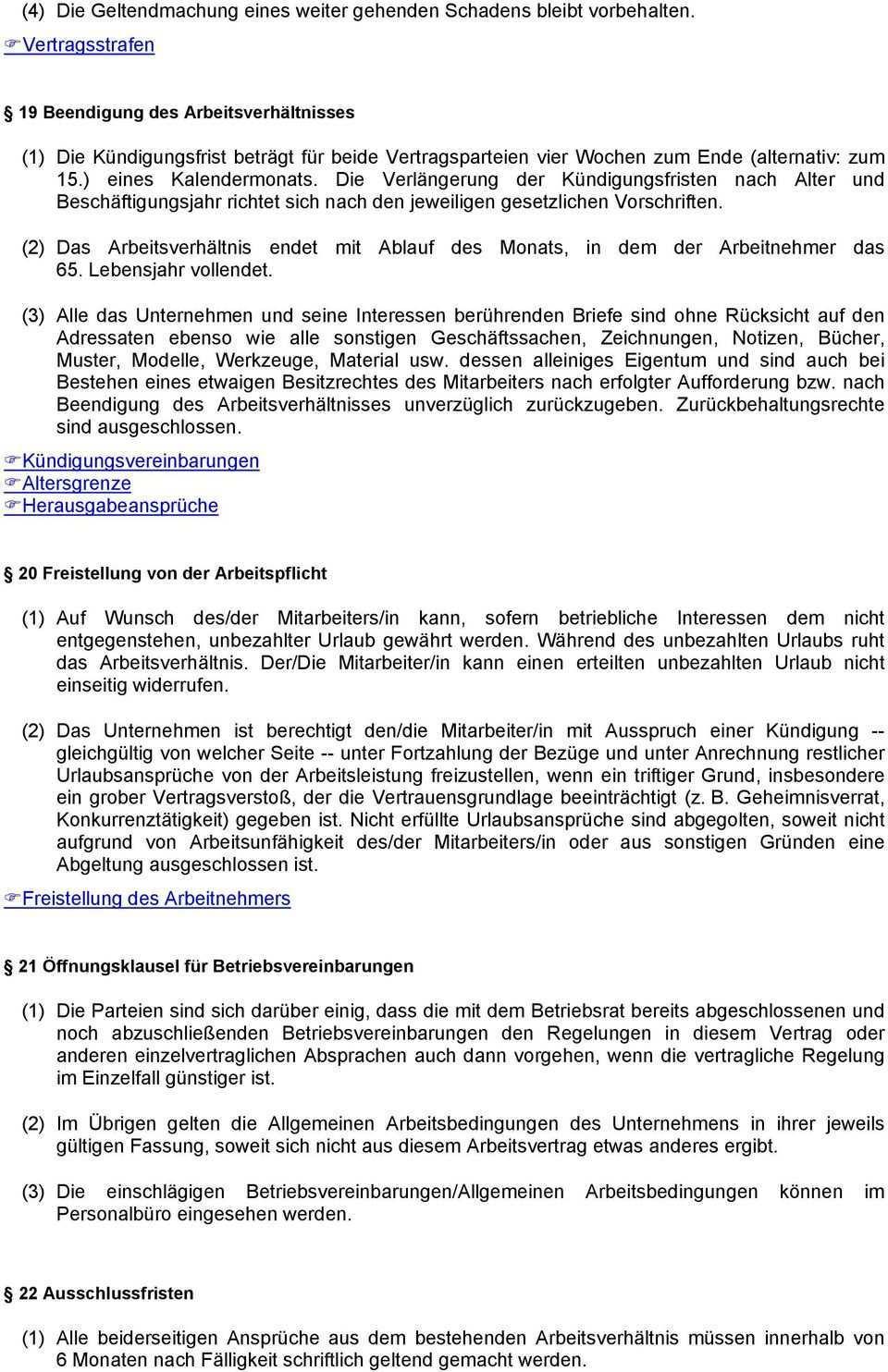 Arbeitsvertrag 1 Der Die Mitarbeiter In Tritt Am Datum Auf Unbestimmte Zeit In Die Dienste Des Unternehmens Pdf Kostenfreier Download