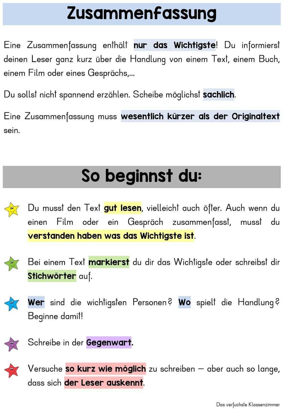 Ubersicht Fur Die Textsorte Zusammenfassung Inhaltsangabe Fur Grundschuler Inhaltsangabe Schreiben Inhaltsangabe Zusammenfassung