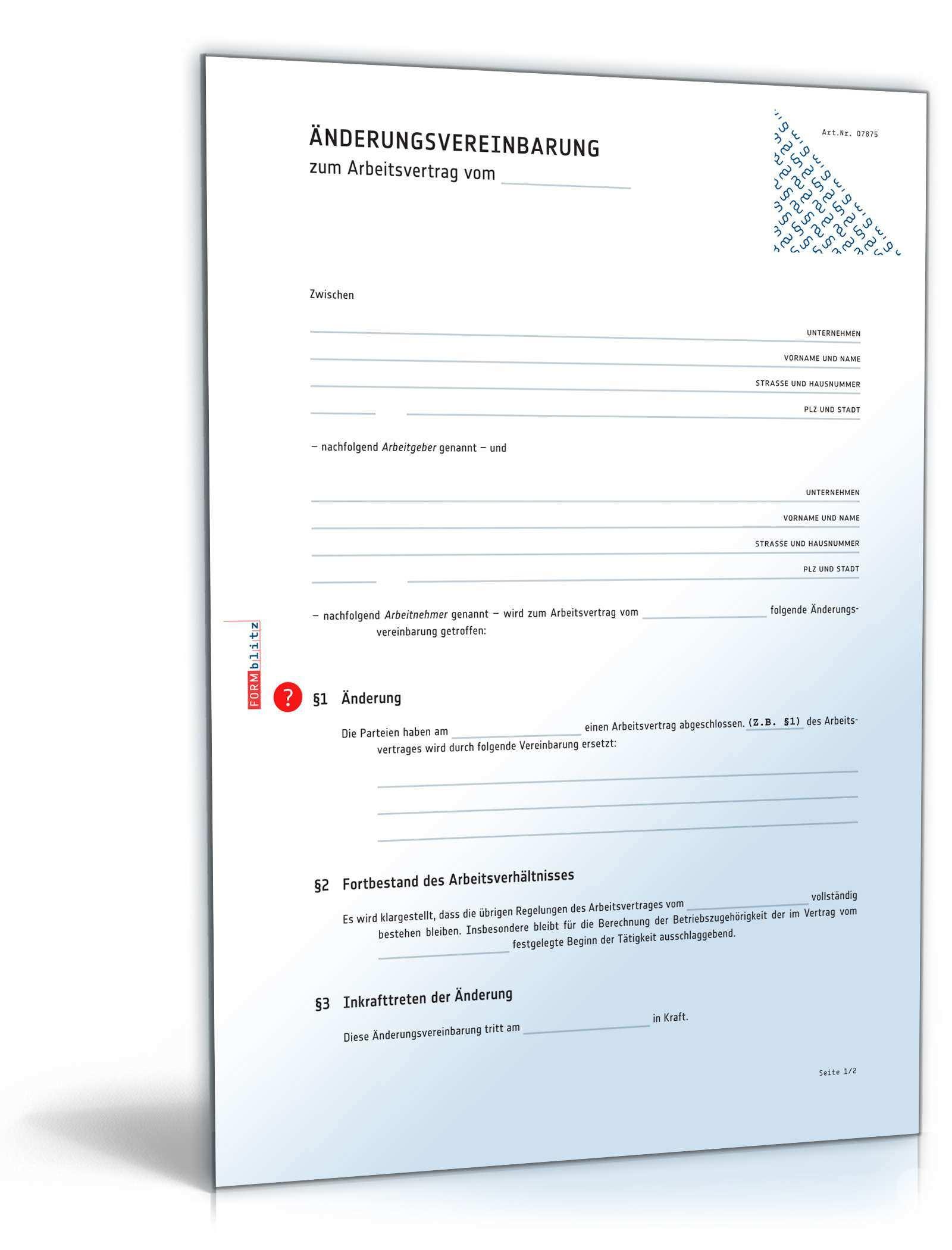 Zusatzvereinbarung Uberstunden Muster Zum Download