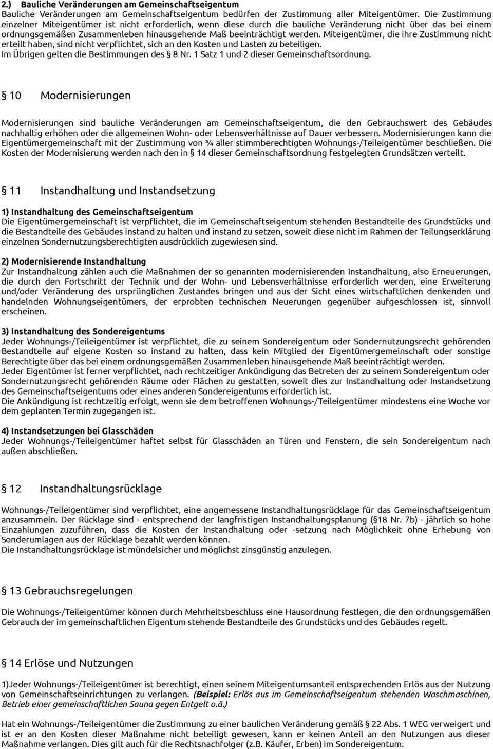 Gemeinschaftsordnung Muster Pdf Free Download