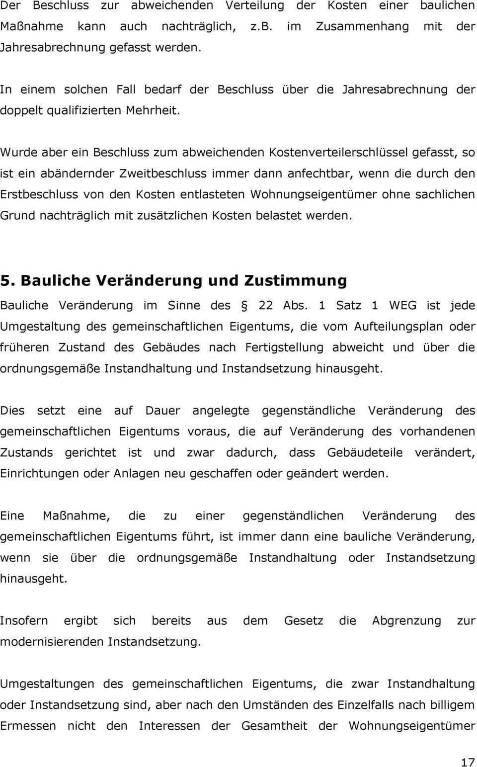 Aktuelles Von Der Weg Novelle Kostenverteilung Nach 16 Weg Bauliche Veranderung Und Zustimmung Pdf Free Download