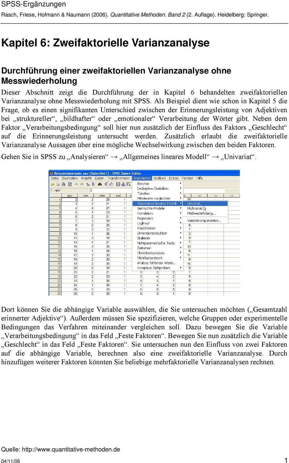Kapitel 6 Zweifaktorielle Varianzanalyse Pdf Kostenfreier Download
